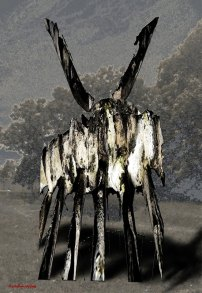 ART by Puskin EH Title: Animal waiting at the edge of Fragment emptiness Image 1