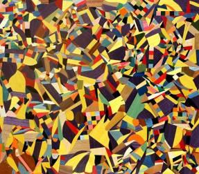 Artist: Antonino Gambino Title: CAOS YELLOW AND PURPLE