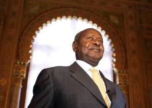 Ugandan President Yoweri Museveni, Sept. 12, 2015. (AP Photo/Eugene Hoshiko)