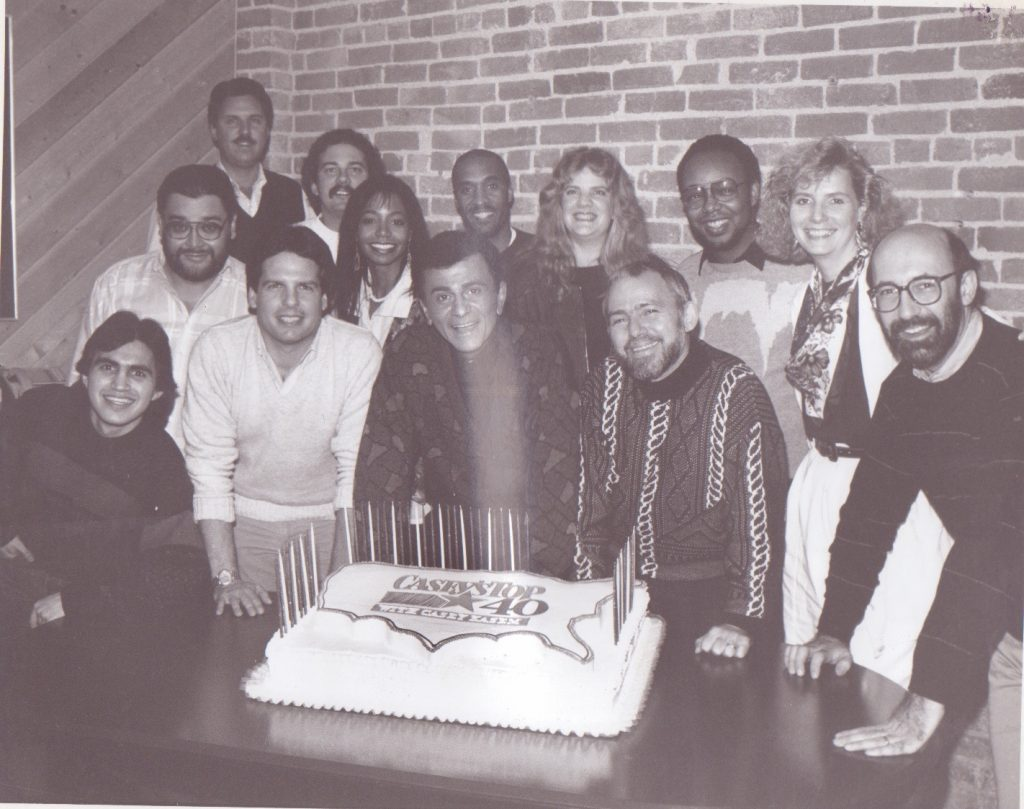 Pitts, back right, previously wrote for the radio show Casey Kasem's Top 40. (courtesy)