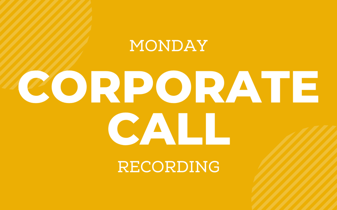 05/10 Corporate Call Recording