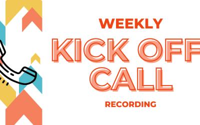 02/22 Weekly Kick Off Training Call
