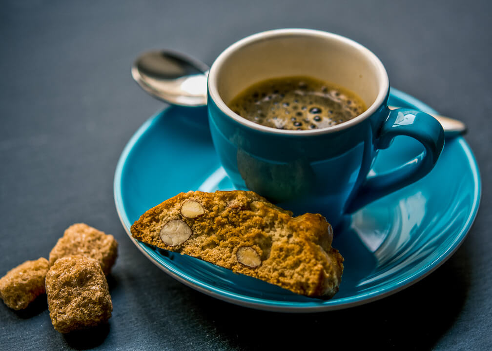 unsplash: espresso and biscotti