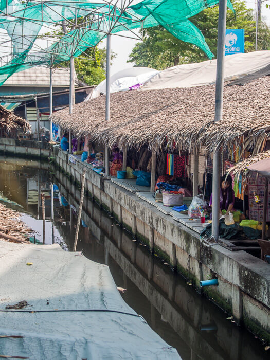 The canals of Bang Naam Phung Floating Market