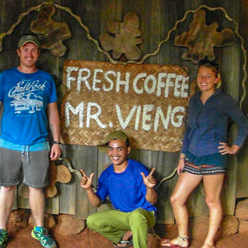 mr coffee farm laos rural roasting coffee