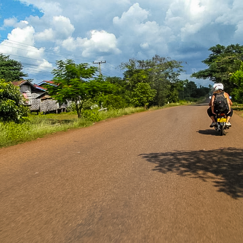 motorbike ride rural Laos