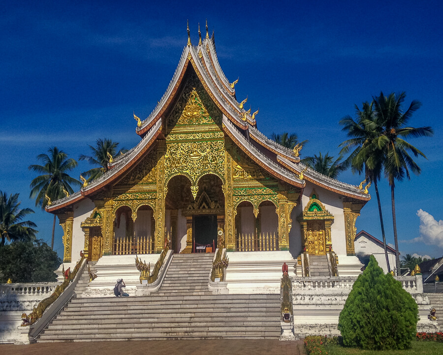 temple luang prabang central laos