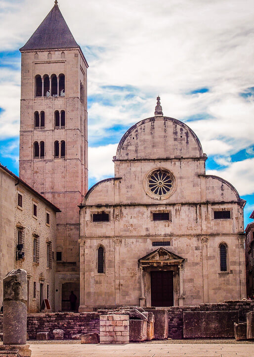 church zadar croatia ancient architechture