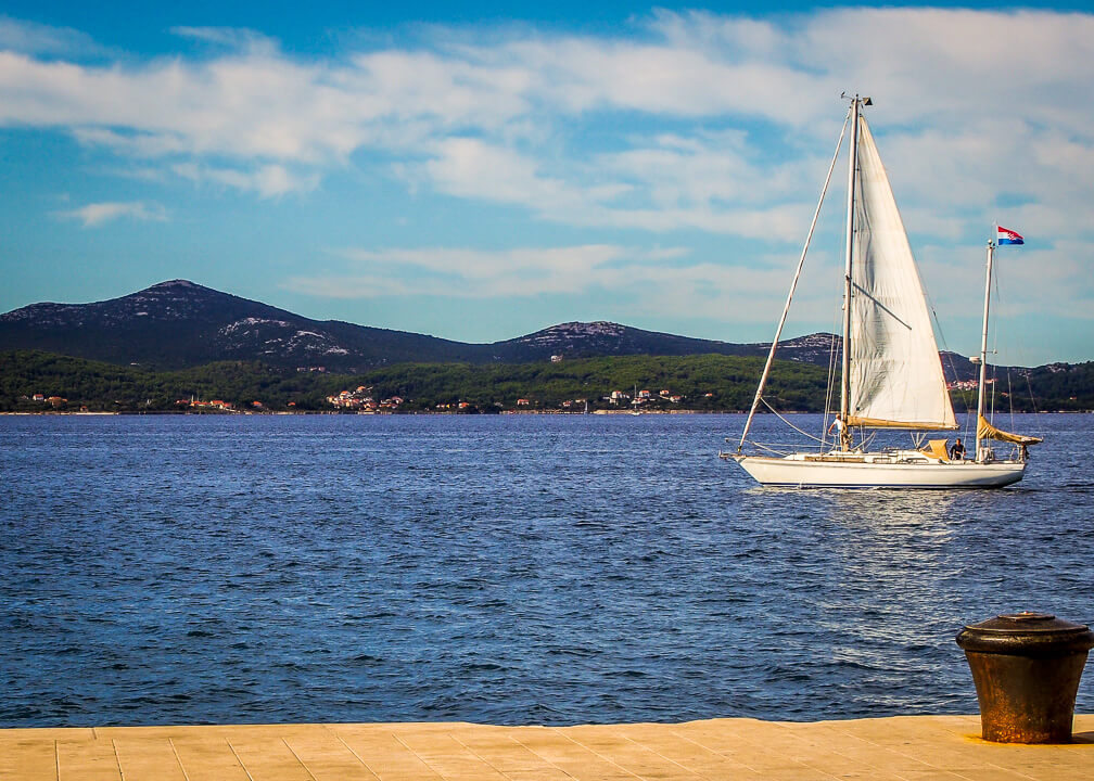 Sailboat in Zadar Croatia