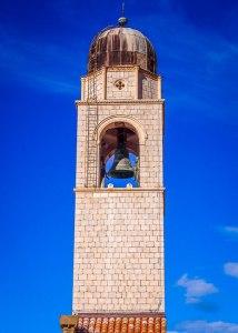 white stone blue skies church dubrovnik croatia