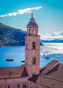 white church blue sea adriatic dubrovnik croatia