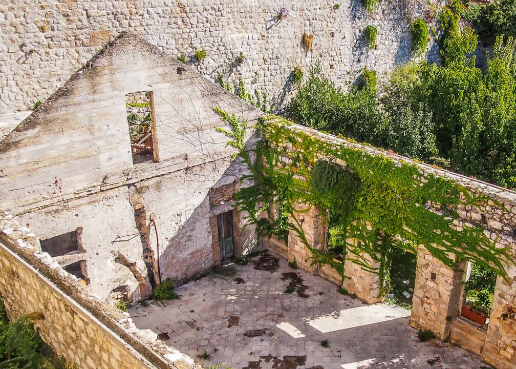 ruins war dubrovnik croatia