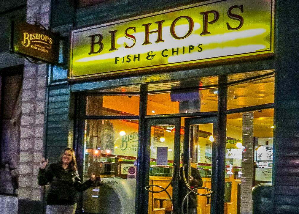 Bishop's fish & chips in Northern Ireland