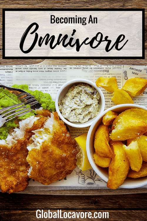 After 15 years of being a vegetarian I decide it's time to try becoming an omnivore. My first bite of fish in the UK leads to global culinary connections.