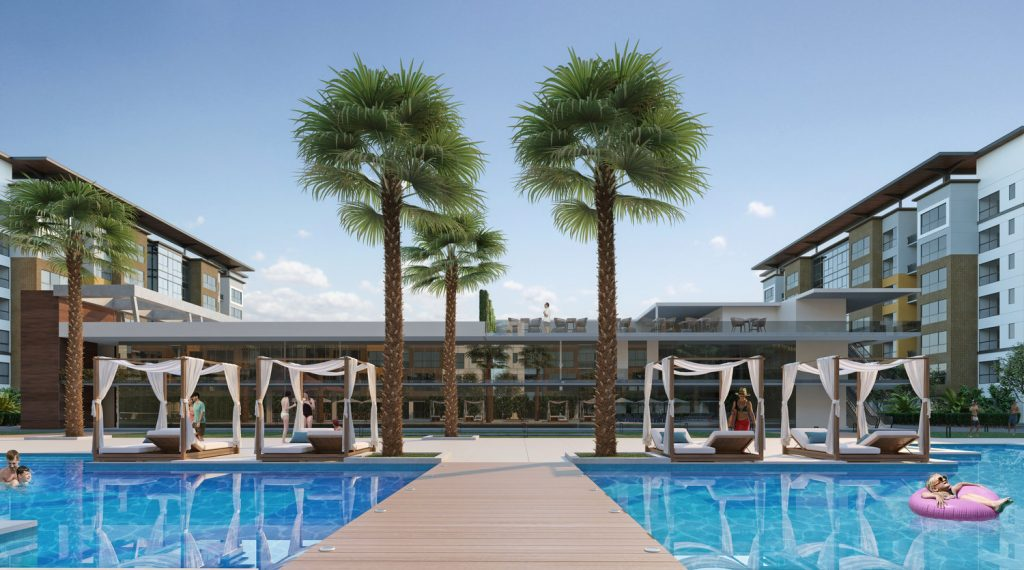 Sycamore Resort Pool and Cabanas