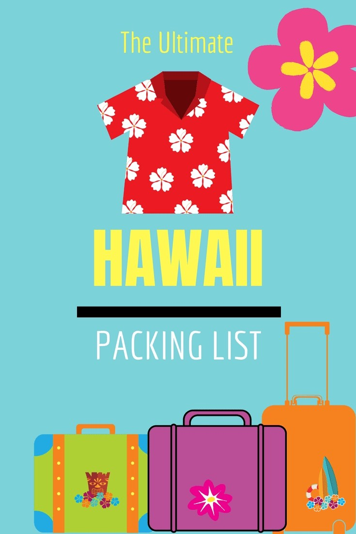 picture about Printable Packing List for Hawaii identified as Hawaii generate list
