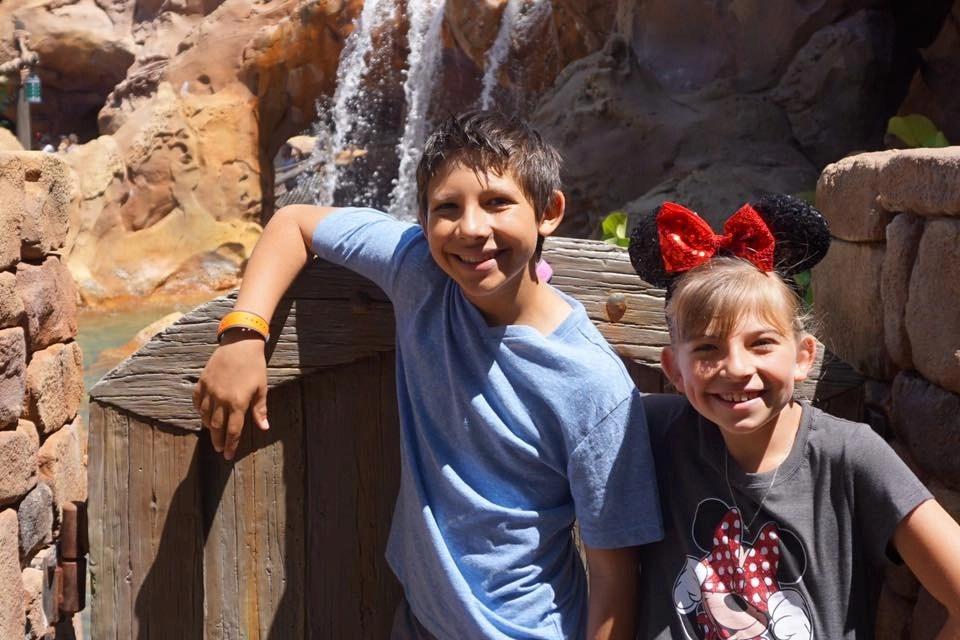 Mouse ears- siblings at Disneyworld