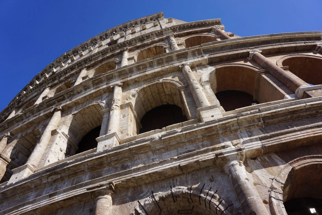 Gorgeous photo of the side of the Colosseum in Rome