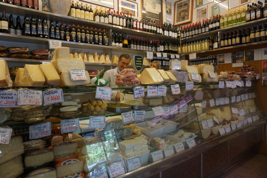 Authentic deli case in Trastevere Italy- Global Munchkins