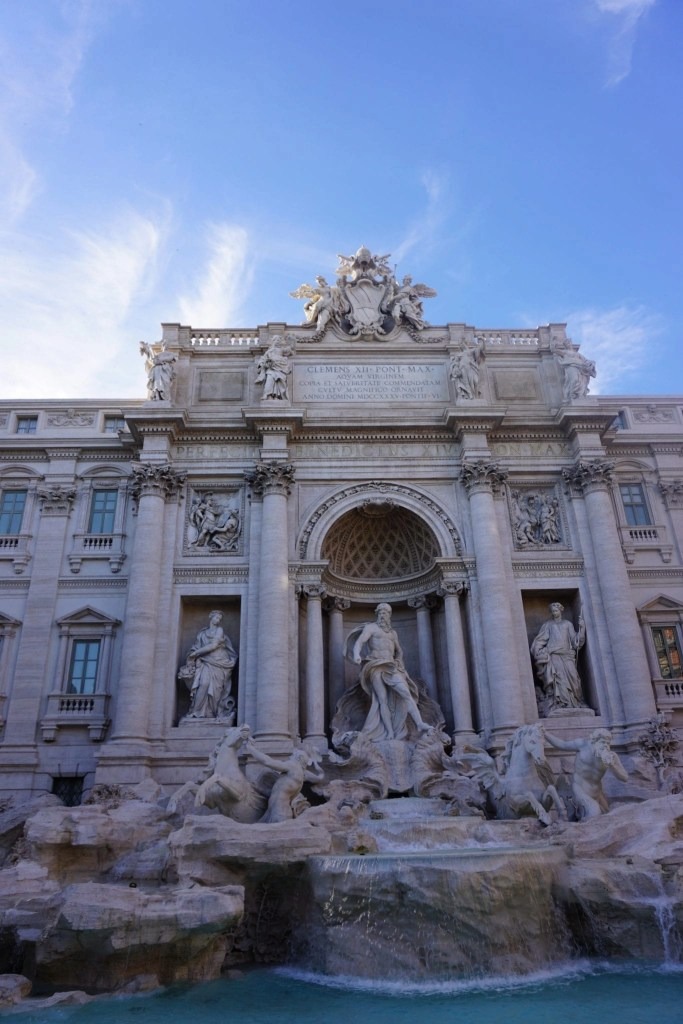 Newly Restored Trevi Fountain. They did an amazing job restoring this beautiful monument- Global Munchkins