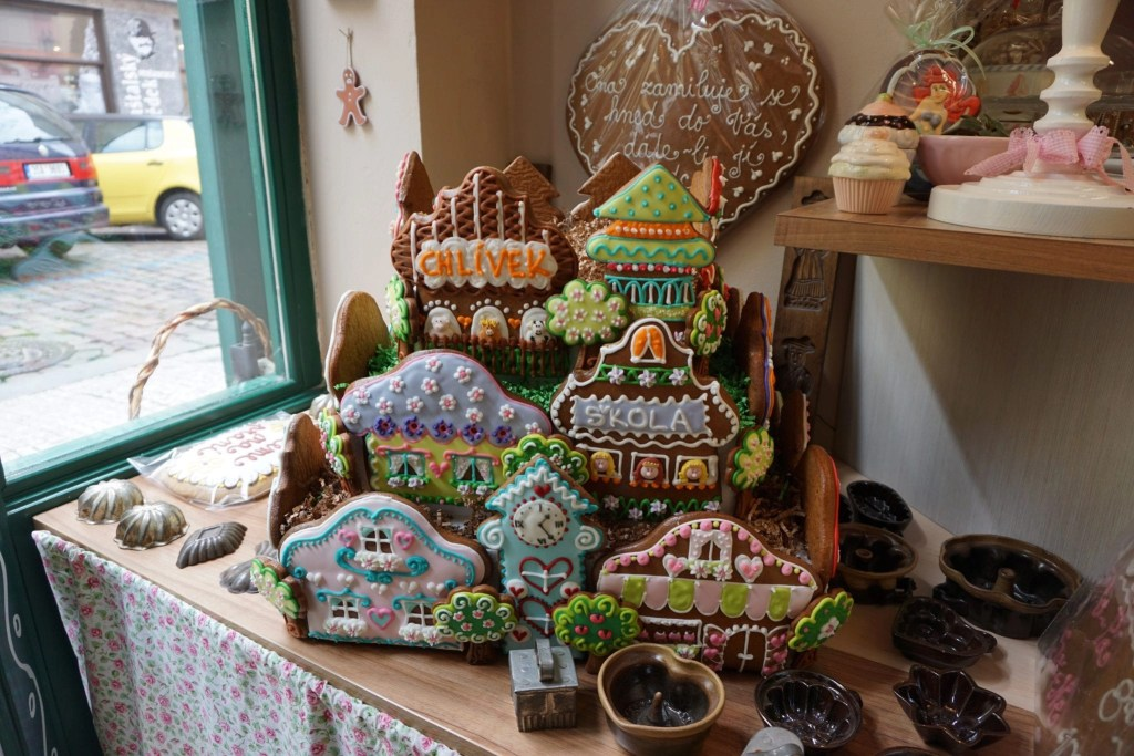 Cookie display from Gingerbread store in Prague, plus review of Eating Prague Food Tour by Global Munchkins