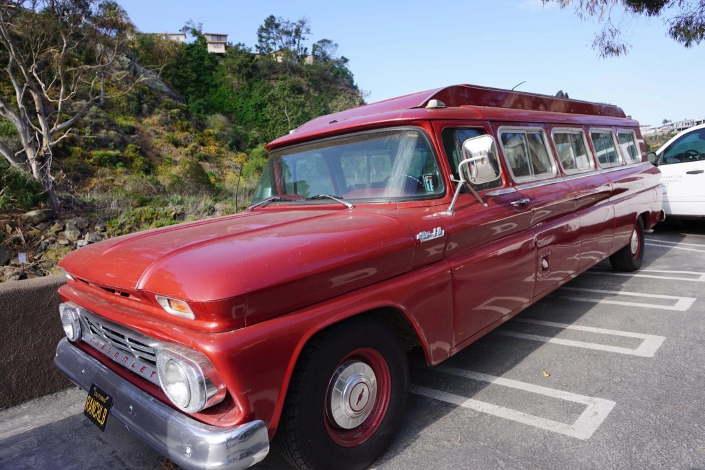 Gorgeous Red Retro Shuttle at The Ranch at Laguna Beach