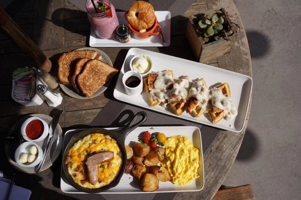 Flat Lay Breakfast at the Ranch at Laguna Beach