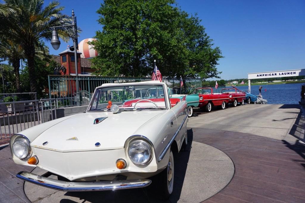 Amphicars at Disney Springs | Global Munchkins