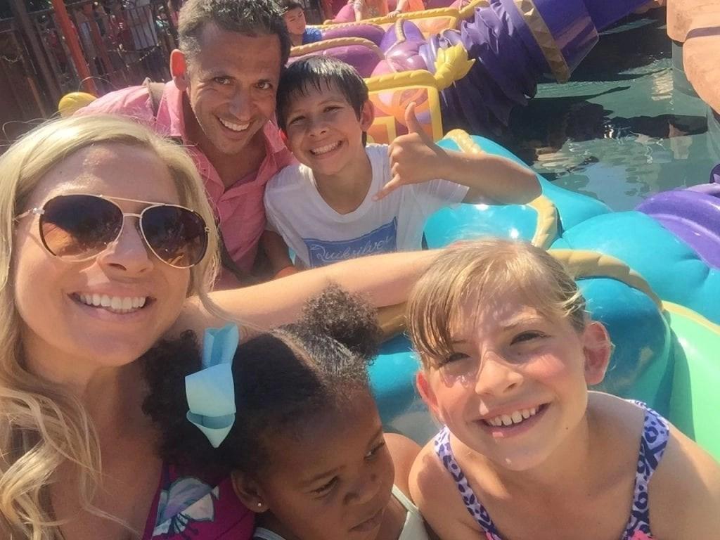 Family on Magic Carpet ride in Magic Kingdom | Global Munchkins