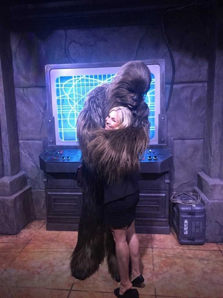 Hug from Chewbacca at Hollywood Studios | Global Munchkins
