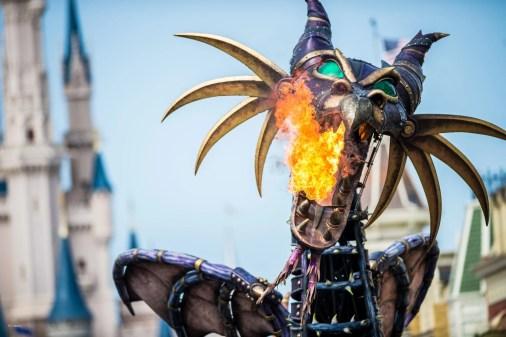 Dragon blowing fire at Magic Kingdom in Disneyworld   Global Munchkins