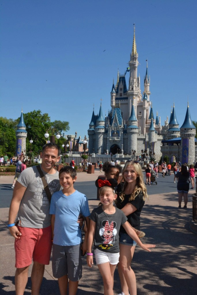Family in front of Cinderella Castle at Magic Kingdom | Global Munchkins
