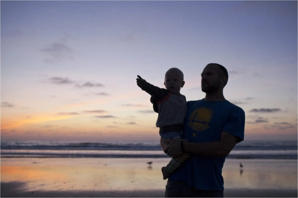 Father and son in the sunset THE LEO LOVES San Diego Lifestyle Family Photographer Erin Oveis Brant