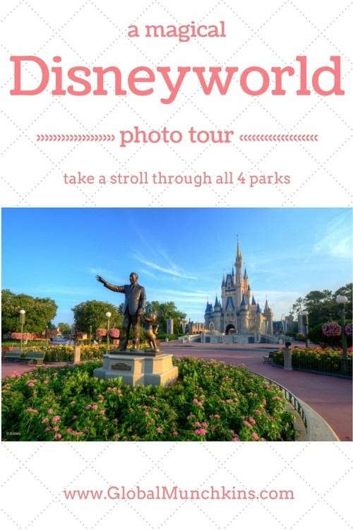 A photo tour of all 4 Disneyworld Theme Parks. Plus, Disney Springs (formerly Downtown Disney) & Typhoon Lagoon | Global Munchkins