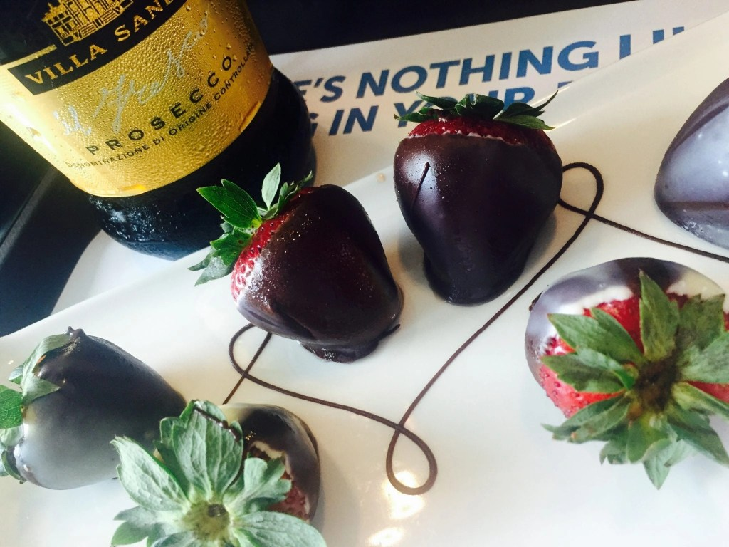 Chocolate Covered Strawberries and Prosecco on NCL Cruise