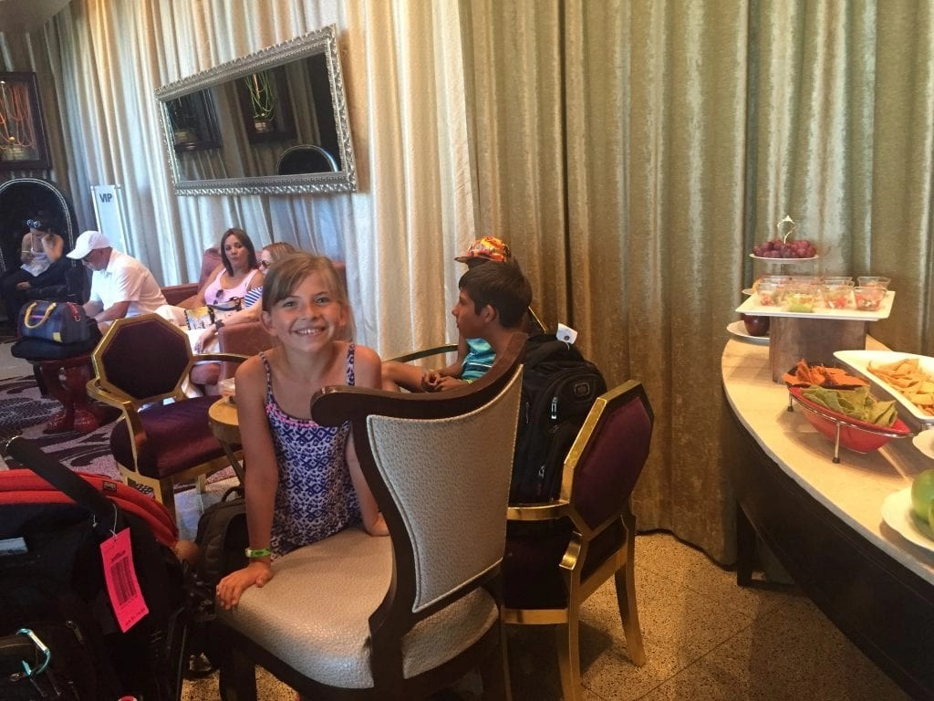 Inside the VIP lounge for guests arriving at the Hard Rock Cancun