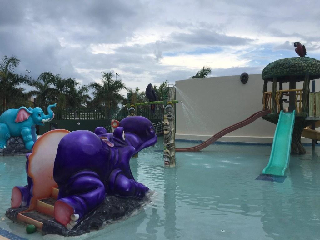 Splash area in the Little Big Club at the Hard Rock Cancun