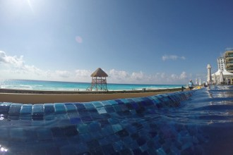 Hard Rock Cancun Beach. View from pool
