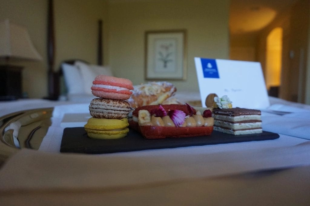 Special French themed treats from the hotel manager at The Ballantyne Hotel in North Carolina