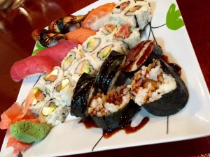 Sushi from Blossoms at the El Conquistador Resort in Puerto Rico
