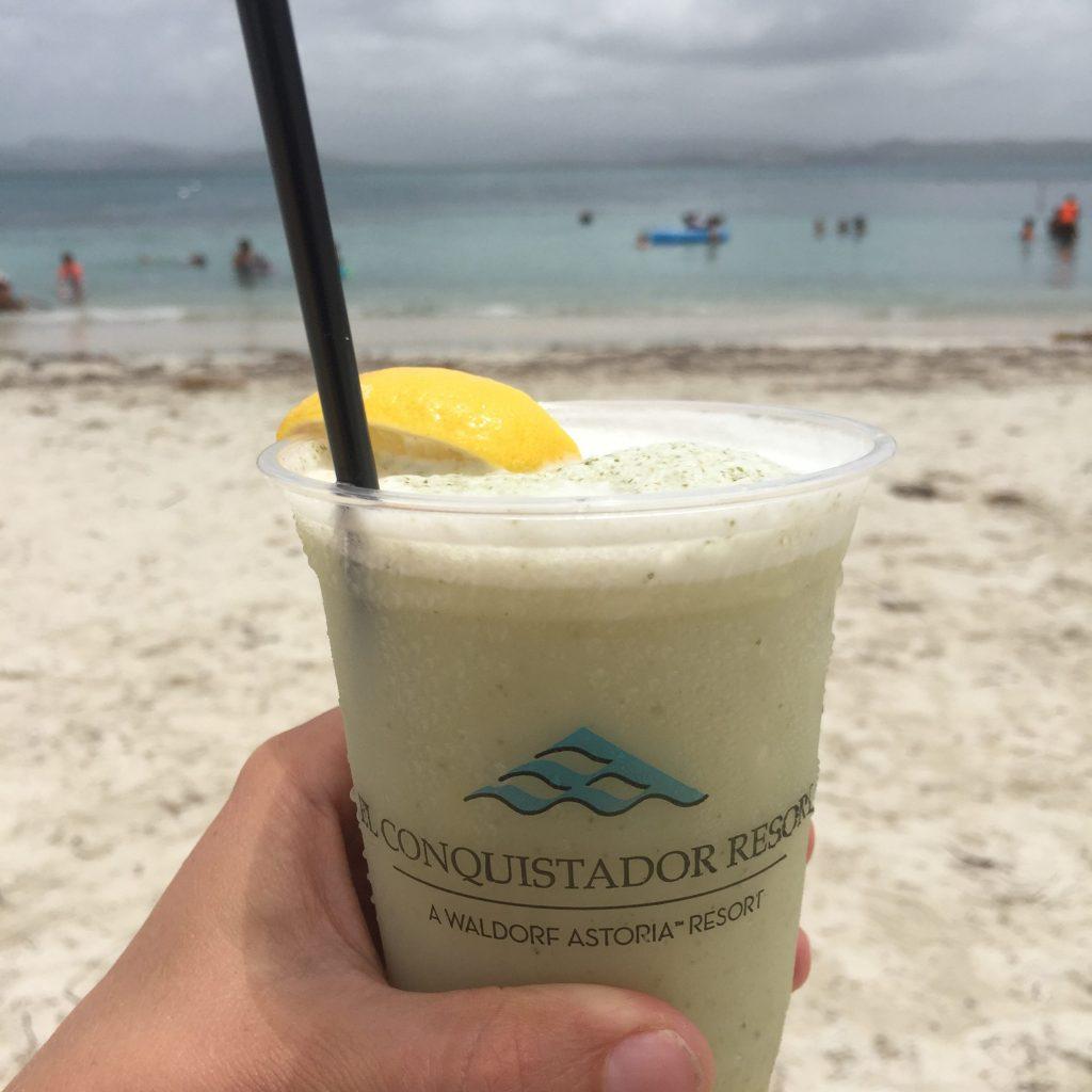 Palomino Adventure cocktail from Iguanas Cafe on Palomino Island