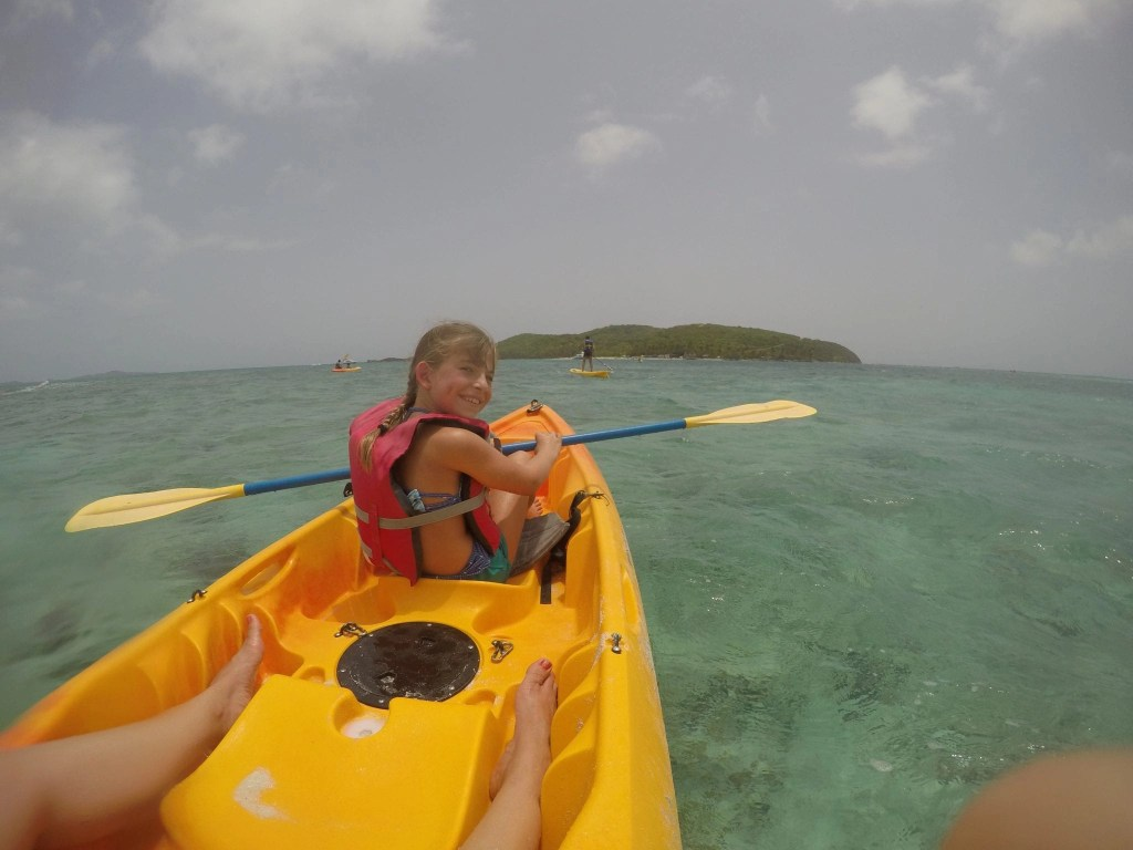 Kayaking off of Palomino Island