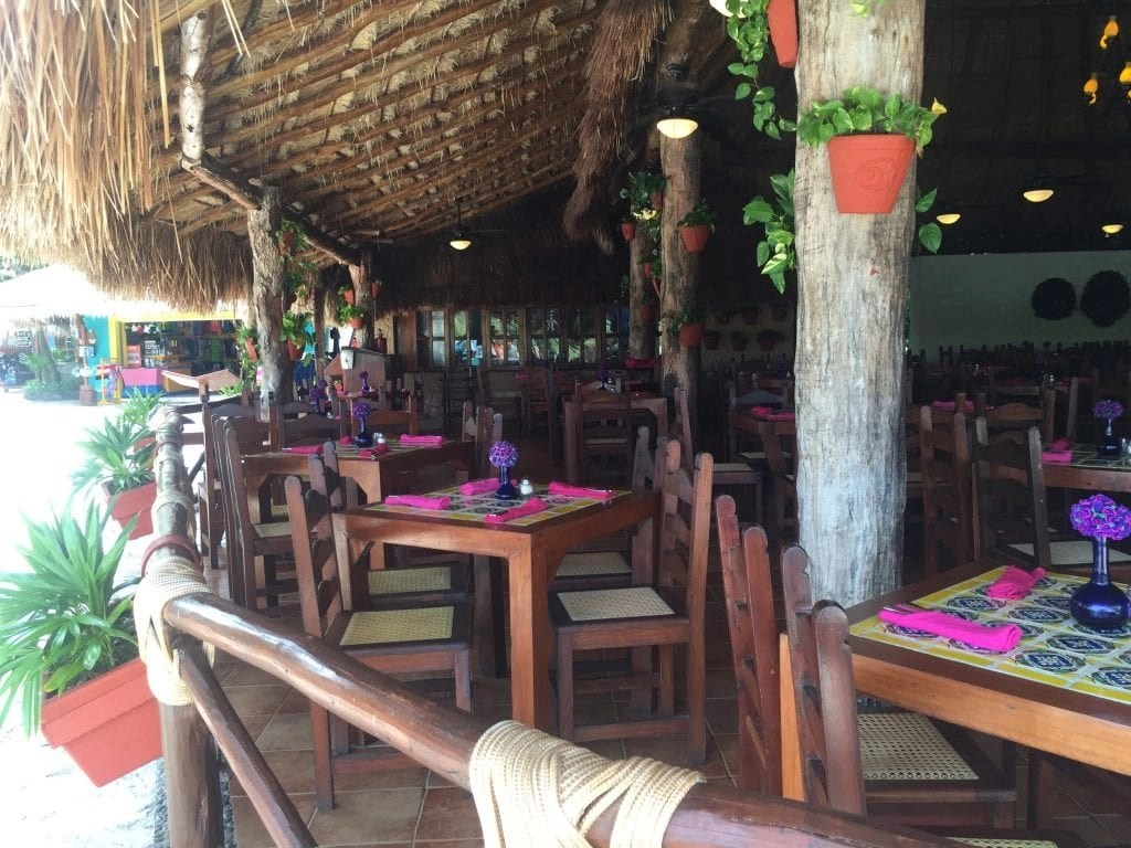 Restaurant at Xel-Ha part of the all inclusive package in Cancun Mexico