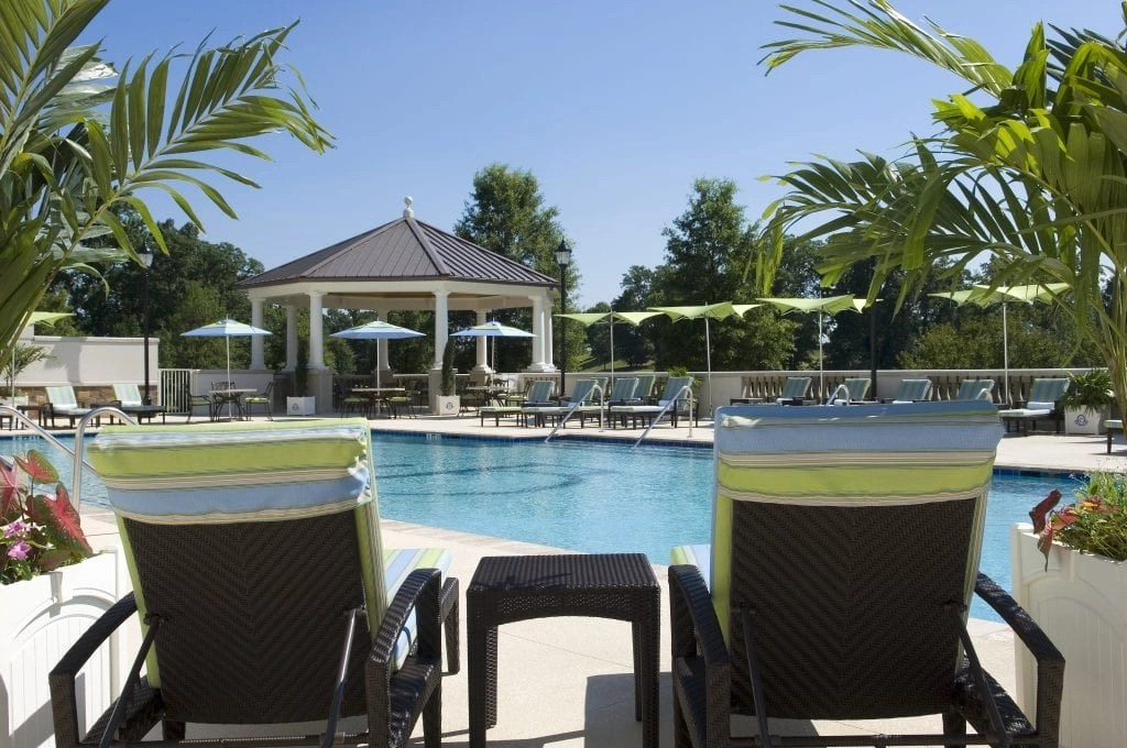Outdoor Pool at the Ballantyne Resort in NC | Global Munchkins