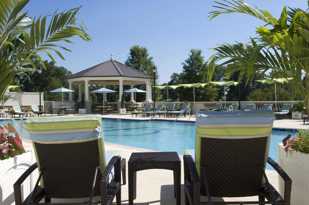 Outdoor Pool at the Ballantyne Resort in NC | Global Munchkins