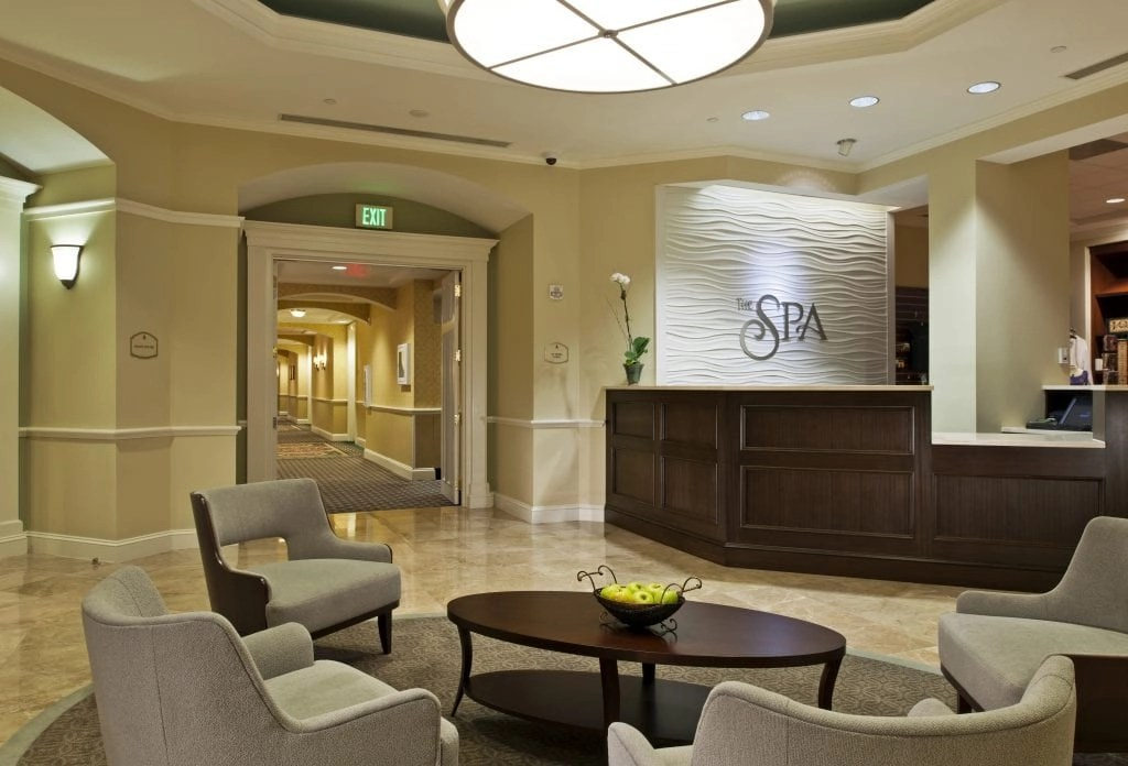 Spa Lobby at the Ballantyne Resort in NC | Global Munchkins