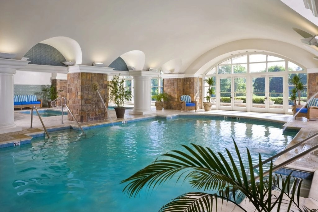 Grotto Indoor Pool at the Ballantyne Resort in NC   Global Munchkins