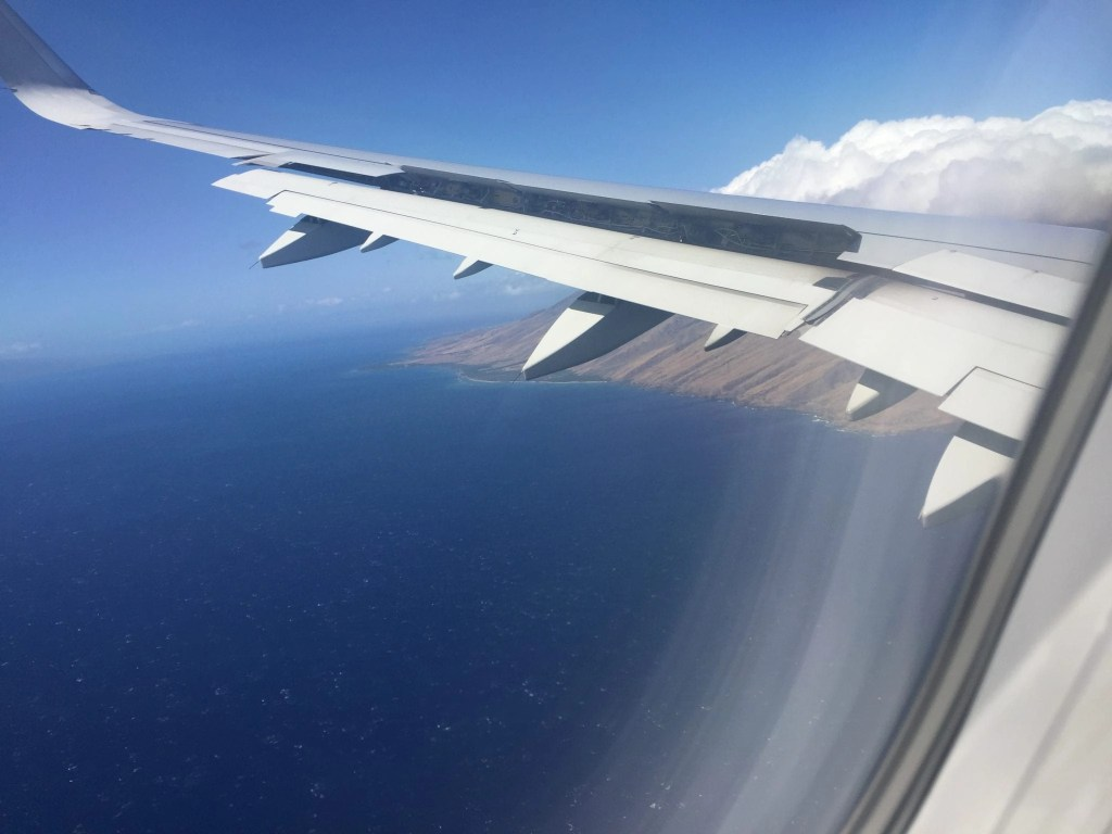Maui from the plane window