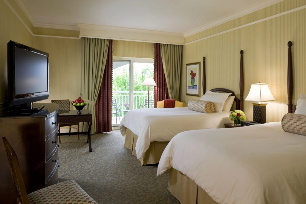 Picture of a double room at The Ballantyne Hotel in North Carolina