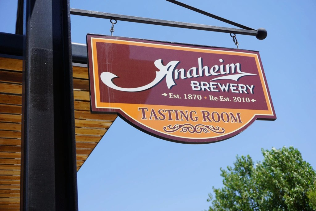 Anaheim Brewery sign. Located across from the Packing District in Anaheim.  Global Munchkins